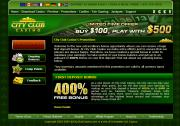 City Club Casino by Online Casino Extra 2.0 screenshot. Click to enlarge!