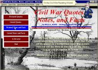 Civil War Quotes, Notes, and Facts 1.0 screenshot. Click to enlarge!