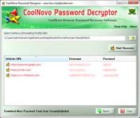 CoolNovo Password Decryptor 4.0 screenshot. Click to enlarge!