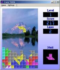 Crazy Tetris 2.21 screenshot. Click to enlarge!