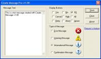 Create Message Pro 1.00 screenshot. Click to enlarge!