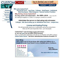 CustomChat Server 1.5 screenshot. Click to enlarge!