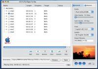 DVD T0 iPod Ripper 4 Mac 2011.1105 screenshot. Click to enlarge!