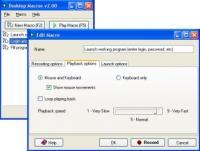 Desktop Macros 2.10 screenshot. Click to enlarge!