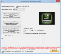 Display Driver Uninstaller 17.0.6.0 screenshot. Click to enlarge!