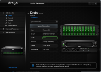 Drobo Dashboard 3.1.2.92795 screenshot. Click to enlarge!