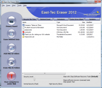 east-tec Eraser 12.9.0.8311 screenshot. Click to enlarge!