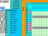 Easy Hour Assignments with Excel 1.66 screenshot. Click to enlarge!