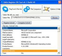 Emsa Register Dll Tool 1.0.48 screenshot. Click to enlarge!