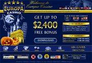 Europa Casino by Online Casino Extra 2.0 screenshot. Click to enlarge!