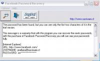 Facebook Password Recovery 1.0.1 screenshot. Click to enlarge!