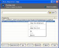 Free Registry Jump 2.1.20150304 screenshot. Click to enlarge!