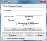 Gpp remote control server.