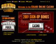 Grand Online Casino by Online Casino Extra 2.0 screenshot. Click to enlarge!