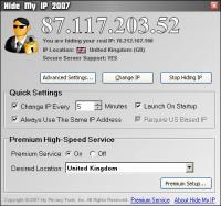 Hide My IP 6.0.518 screenshot. Click to enlarge!