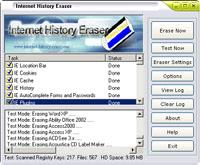 Internet History Eraser 8.0 screenshot. Click to enlarge!