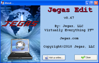 Jegas Edit 0.67 screenshot. Click to enlarge!