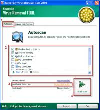 Kaspersky Virus Removal Tool 15.0.19.0 (13.01.201 screenshot. Click to enlarge!