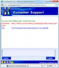 Live2support Live Chat Software 3.1 screenshot. Click to enlarge!