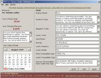 MB Chinese Zodiac Software 2.05 screenshot. Click to enlarge!