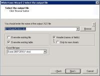 MDB to XLS Converter 1.35 screenshot. Click to enlarge!