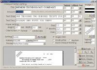 MemDB Check Printing System 1.0 screenshot. Click to enlarge!