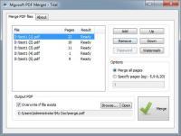 Mgosoft PDF Merger 9.0.1 screenshot. Click to enlarge!