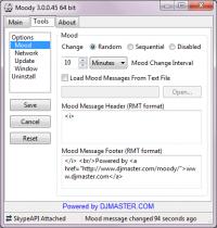 Moody 5.0.0.178 screenshot. Click to enlarge!