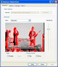 Motion Detection 1.04 screenshot. Click to enlarge!