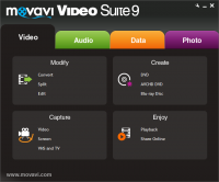Movavi Video Suite 16.1.0.0 screenshot. Click to enlarge!