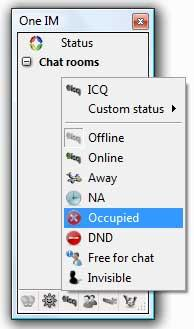 One Instant Messenger 2.9.0 screenshot. Click to enlarge!