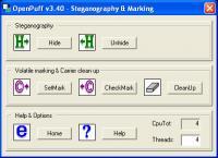 OpenPuff Steganography & Watermarking 3.40 screenshot. Click to enlarge!