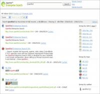 Openfind Enterprise Search 3.0 screenshot. Click to enlarge!