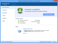 Outpost Firewall Pro 8.1.4303.670.1908 screenshot. Click to enlarge!