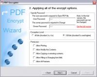 PDF Encrypt Tool 2.00 screenshot. Click to enlarge!