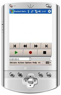 Pocket Dictate Dictation Recorder 5.13 screenshot. Click to enlarge!