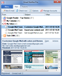 Portable Gmail Notifier Pro 5.3.5 screenshot. Click to enlarge!