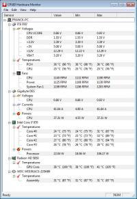 Portable HWMonitor 1.31.0 screenshot. Click to enlarge!