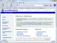 Portable SeaMonkey 2.50 screenshot. Click to enlarge!