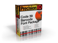 PrecisionID Code 39 Barcode Font Package 4.0 screenshot. Click to enlarge!