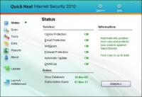 Quick Heal Internet Security 17.00 (10.0.0.7) screenshot. Click to enlarge!