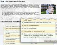Real Life Mortgage Calculator 1.05 screenshot. Click to enlarge!