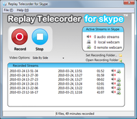 Replay Telecorder for Skype 2.4 screenshot. Click to enlarge!