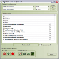 RightMark Audio Analyzer 6.4.0 screenshot. Click to enlarge!