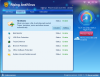 Rising Antivirus Free Edition 23.01.27.17 screenshot. Click to enlarge!