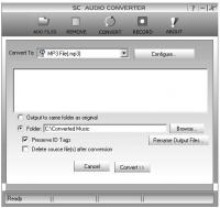 SC Free Audio Converter 7.0.0.0 screenshot. Click to enlarge!