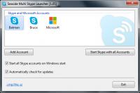 Seaside Multi Skype Launcher 1.15 screenshot. Click to enlarge!