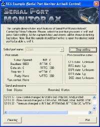 Serial Port Monitor ActiveX 3.0 screenshot. Click to enlarge!