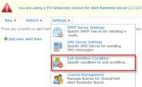 SharePoint Alert Reminder Boost 2.7.510.0 screenshot. Click to enlarge!