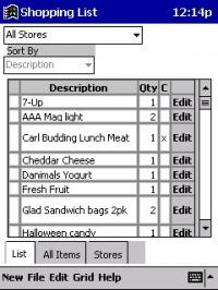 Shoppinglist 2.2 screenshot. Click to enlarge!